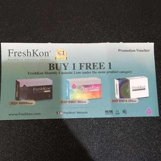 #July100 BUY 1 FREE 1 FreshKon Cosmetic Lenses Voucher