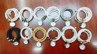 fashion bangle pearl watche