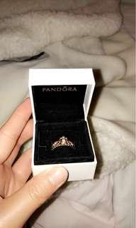 Pandora rose gold princess tiara ring