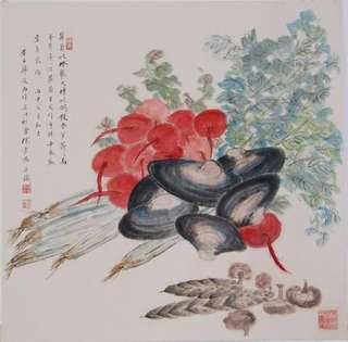 丰收图 苏州画家徐云鹤