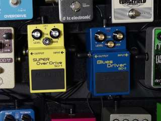 Boss Blues Driver BD2 and Super Overdrive SD1 Overdrive Guitar Pedals