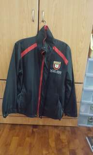 Ngee ann poly wind breaker M size red
