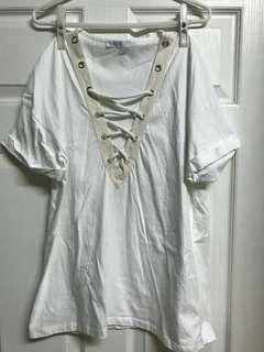 🚚 ZARA米白色短袖上衣