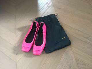 Fendi Patent Leather logo buckle flat shoes 潻皮平底鞋