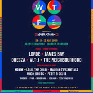 Jual Tiket We The Fest 2018 (lineup Lorde, James Bay, Odezsa, GAC, Maliq & D'Essentials and many more)