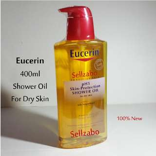 Eucerin PH5 Shower Bath Oil Body Wash Cleanser 400ml Sellzabo Bathe Bathing Dry Sensitive Skin Ecerin