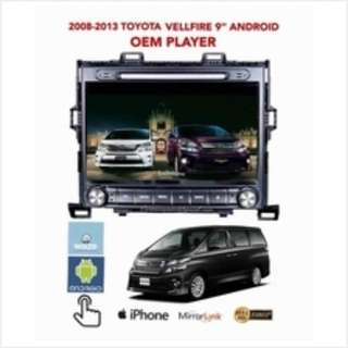 toyota alphard vellfire android dvd player free camera