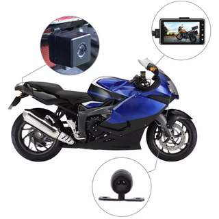 New Ready Stock Motorbike / Bike Dual Lens Front & Rear Recording Camera - Dual Channel
