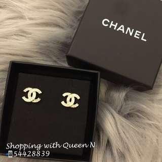 Chanel Earrings Chanel CC Logo 金色耳環