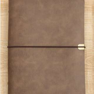 🚚 PU Soft Leather Ring Notebook Cover B5