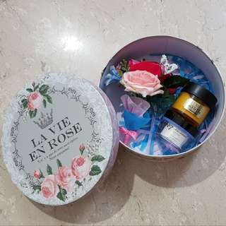 Classy Charming Gift Box with Artificial Flower Bouquet