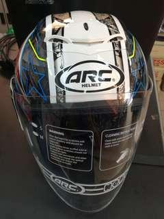 NEW ARC AR4 BLACK STAR OPEN FACE HELMET