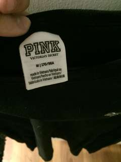 Black with sparkles love pink shirt