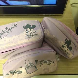 米妮三件裝化妝袋