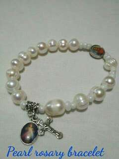 Authentic pearls rosary bracelet