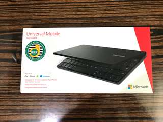 Microsoft universal mobile keyboard (藍牙鍵盤 Bluetooth)