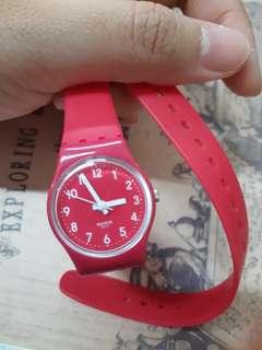 Swatch Pink Watch 粉紅兩圈手錶 屋塔房王世子韓智敏同款
