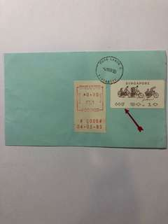 Clearing Stocks: Singapore 1993 Trishaw 10 Cents Postage Label No 0007 Overlapped ERROR Cover