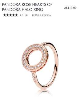 Pandora Rose Hearts Ring