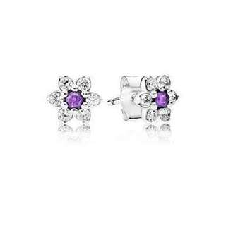 Authentic Forget me not Pandora earrings