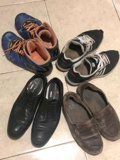 4 sets man shoes