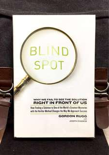 # Highly Recommended《Bran-New + Hardcover Edition + Approach That Challengs Us On The Way We Think & Deciide And  Why Expert Fail 》Gordon Rugg - BLIND SPOT : Why We Fail to See the Solution Right in Front of Us