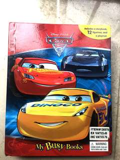 Disney Cars book and figurines