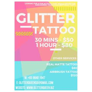Birthday Party - Glitter Tattoo