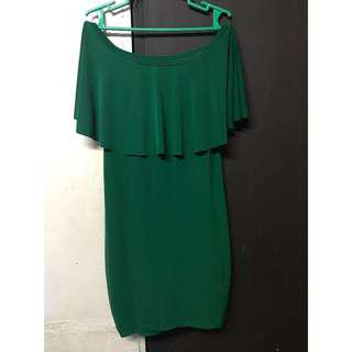 Off shoulder (bodycon) - green