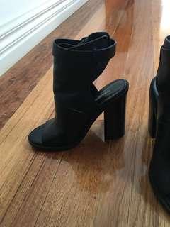 Windsor smith peep toe boots