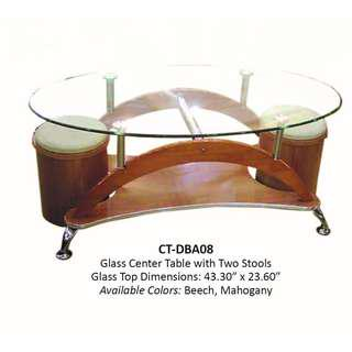 Glass Center Table CT-DBA-08