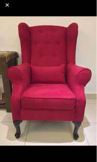 PRICE REDUCED! Custom high back arm rest chair