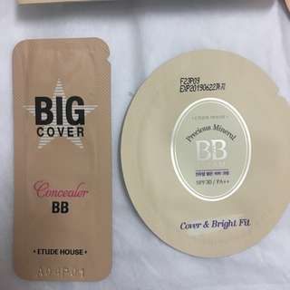 #blessing for free📬Etude house precious mineral BB + big cover BB concealer