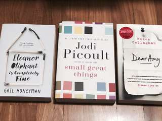 Books - Eleanor Oliphant, Small Great Things, Dear Amy