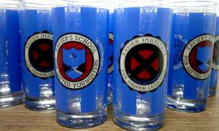 Lot deadstock vintage x-men drinking glass