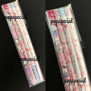 Last Pencil SET @$6.80 Hello Kitty My Melody Pencils