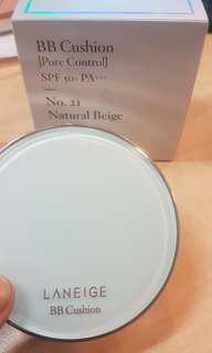 Laneige bb cushion pore control spf 50 pa+++ shade 21