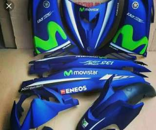 Spark 135  movistar matt blue coverset