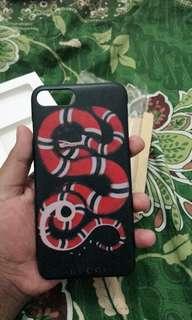 """V """"BTS"""" Gucci Snake Black Case for Iphone 7 plus"""