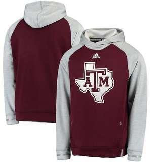 SALE Adidas Texas A&M Aggies Sideline Player Hoodie - ORIGINAL, BARU, MURAH