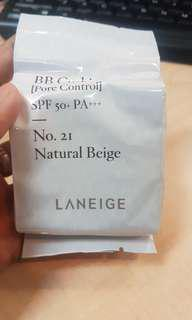 Laneige bb cushion pore control shade 21 natural beige spf 50 pa+++