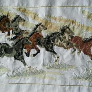 Lucky Cross Stitch BOUQUET OF FLOWERS - TRUE LOVE. HORSES - DEEP LOVE.  FISH - LONGEVITY