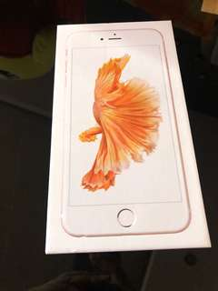 IPhone 6s Plus (Box and Accessories Only)