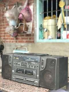 🚚 「早期卡帶收音機可過電寬度60cm」 早期 古董 復古 懷舊 稀少 有緣 大同寶寶 黑松 沙士 鐵件 40年