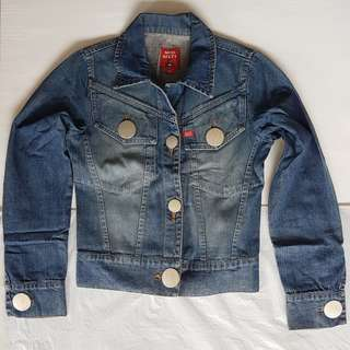 🚚 Retro Fashion, Vintage Jacket, Funky Denim, Rare Miss Sixty Designer Denim Jacket, Stylish Coat, Italy, Big Buttons Design, Iconic, Hipster, Fashionable, Street Fashion, Collectables, Catwalk, Lady Night's Out