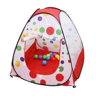 Foldable Polka Dots mini tent house