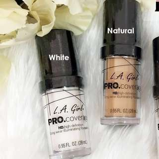 L.A. Girl Pro Coverage Liquid Foundation (LA Girl) White, Natural, Beige