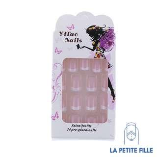 Nail Art: Fake Nails - French Style False Nail Tips (24 pcs/Box)