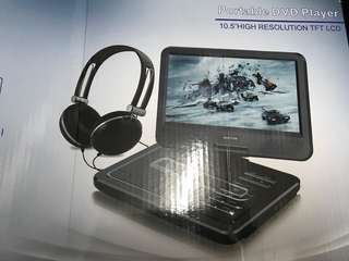 WONNIE 10.5 Inch Portable DVD Player (Black)