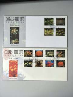 Singapore FDC Corals & Reef HV & LV